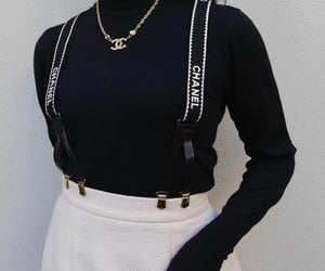 black, chanel, and clothes image