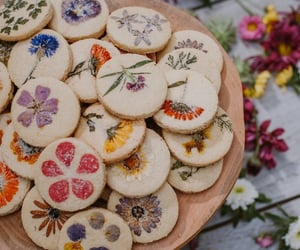 baking, Cookies, and flowers image