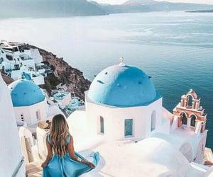 fashion, blue, and Greece image