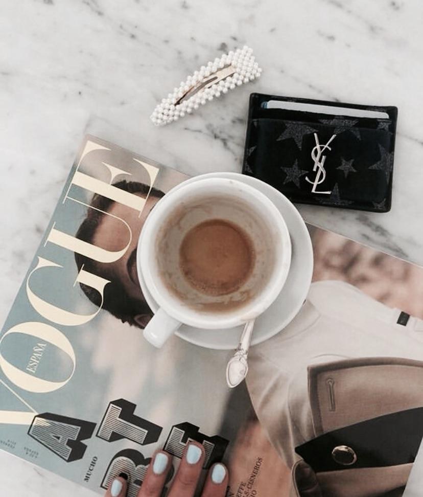 coffee, vogue, and magazine image