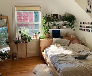 bed, bedroom, and camera image