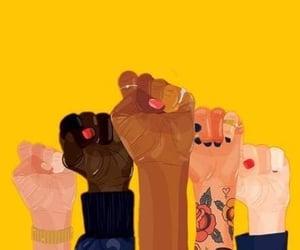 feminism, yellow, and feminist image