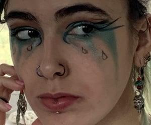 beauty, blue, and eye shadow image