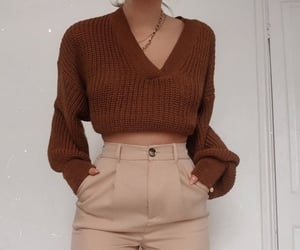 outfit, sweater, and pants image