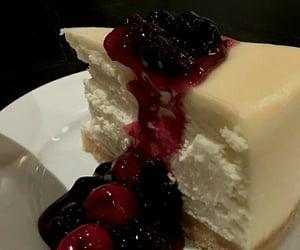cake, cheesecake, and cherries image