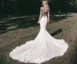 girl, wedding, and bridal image