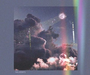 aesthetic, clouds, and rainbow image