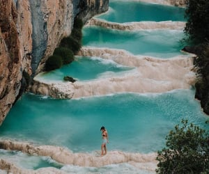 travel, girl, and water image