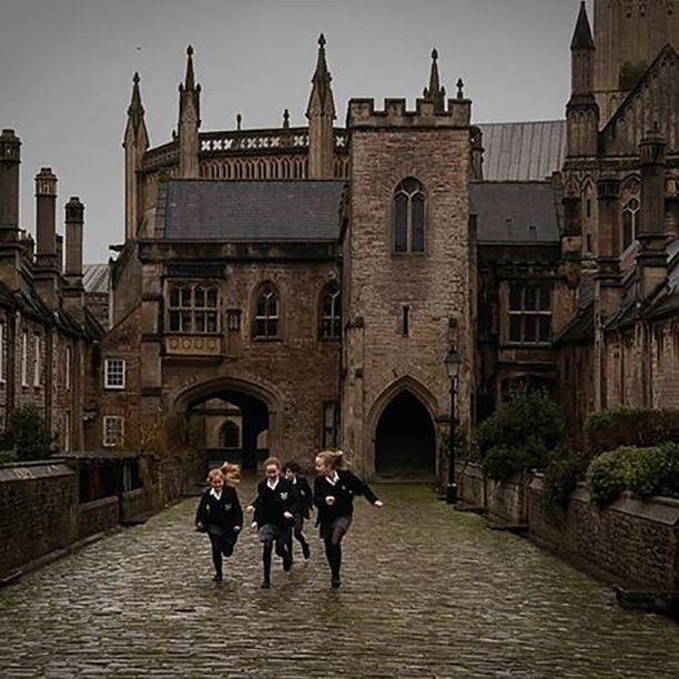 academy, girl, and dark academia image