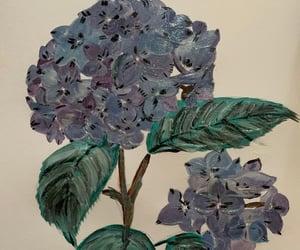 Fleurs, peinture, and hortensia image