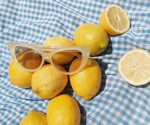 fruit, sunglasses, and food image