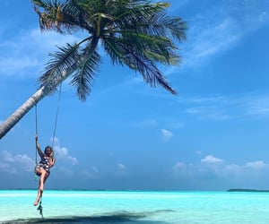 blonde, anete vizla, and Maldives image