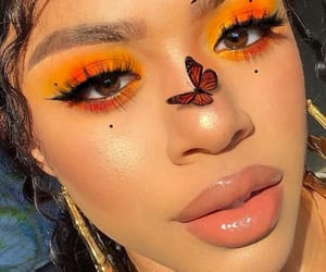 makeup, butterfly, and beauty image