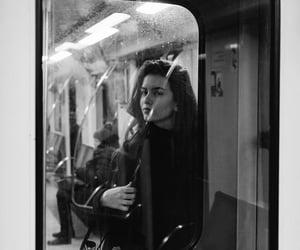 girl, aesthetic, and train image