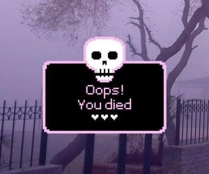 graveyard, kawaii, and goth text image