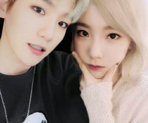 couple, snsd, and exo image