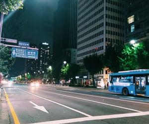 city, korea, and road image