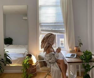 girl, interior, and morning image