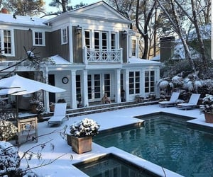 home, house, and winter image