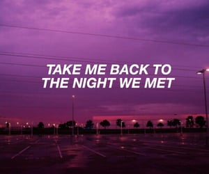 night, purple, and quotes image