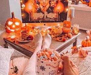 autumn, marshmallows, and hot chocolate image