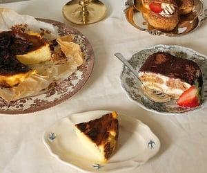 cheesecake, cream, and food image