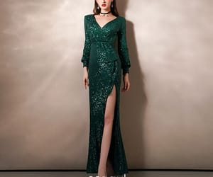 dark green dress, tulle dress, and formal dresses image