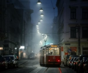 bus, trolly, and cities image