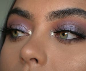 eyebrows, girls, and glitter image