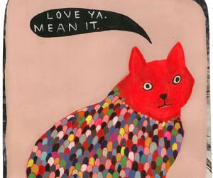 art, love, and cat image