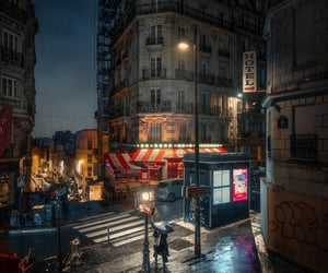 alone, paris, and cities image