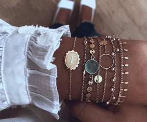accessories, gold, and accesorios image