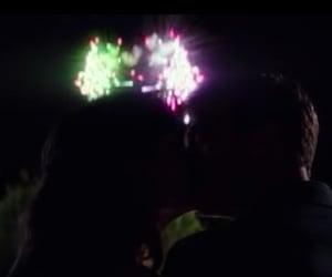 dark, fireworks, and kiss image