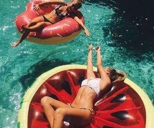 bikini, summer, and water image