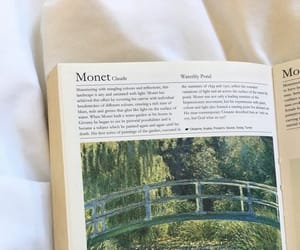 book, monet, and aesthetic image