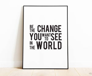 black and white, change the world, and etsy image