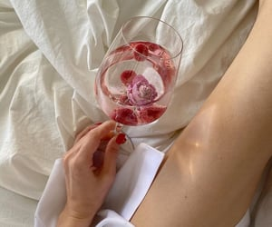bed, chill, and wine image