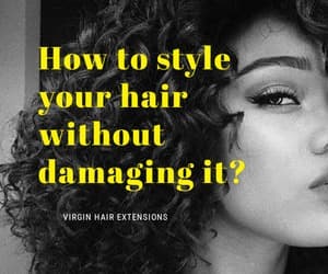hair extensions, hairstyles, and hair tips image