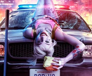 harley quinn, egg sandwich, and birds of prey image