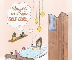 mental health, self-care, and self isolation image
