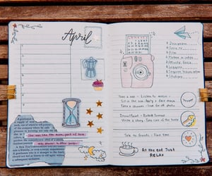 april, college, and diary image