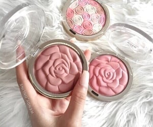 makeup, pink, and rose image