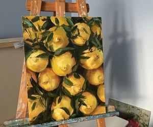 art, lemon, and yellow image