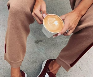 coffee, outfit, and sneakers image