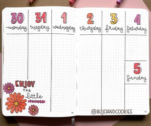 bujo, weekly spread, and bujo layout image