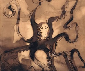 art, artist, and octopus image