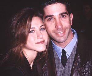 friends, David Schwimmer, and Jennifer Aniston image