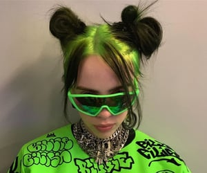 billie eilish, billie, and green image
