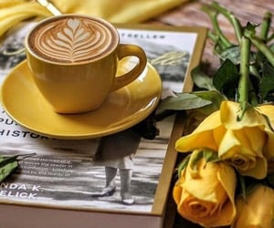 coffee, flowers, and drink image