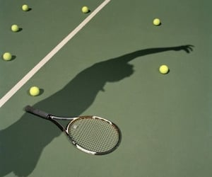 green, aesthetic, and tennis image